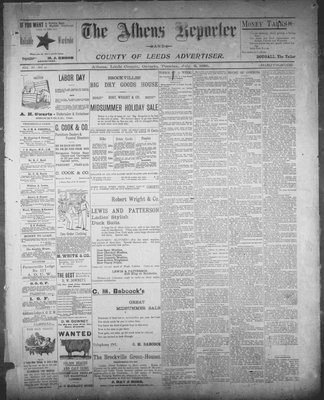 Athens Reporter and County of Leeds Advertiser (18920112), 9 Jul 1895