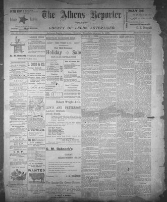 Athens Reporter and County of Leeds Advertiser (18920112), 6 Aug 1895
