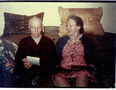 J.W. (James) Simmons and wife Carrie Alford Simmons c.1955