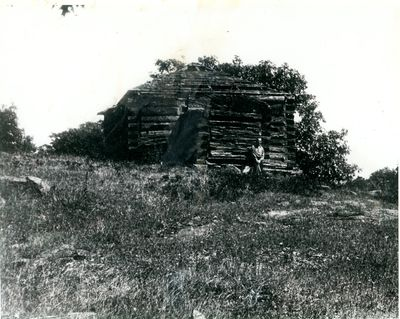 Remains of Morton blockhouse c.1920