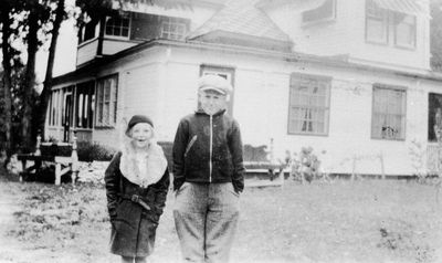 Boys at Ingall cottage on Petty Bay, Lower Rideau c.1930