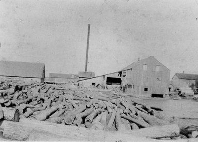 E. Errett and Sons sawmill c.1900