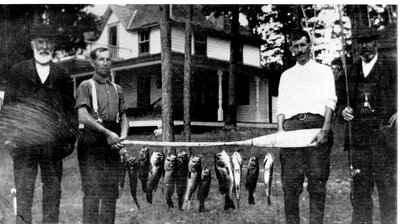 Day's catch on Big Rideau c.1900