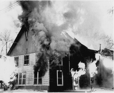 Otter Creek cheese factory fire c.1970