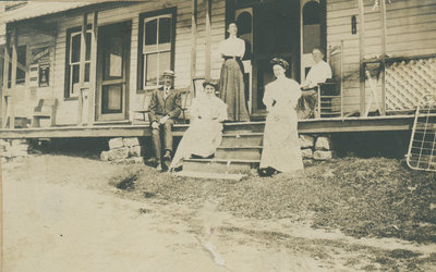 Group on a porch in Philipsville
