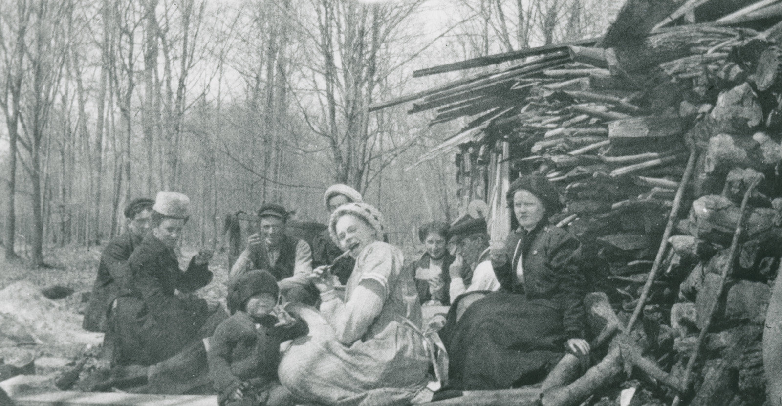 Sugaring Off at the Campbell Farm c.1912