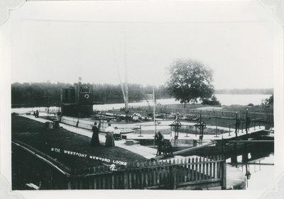Tug Westport in Newboro Locks