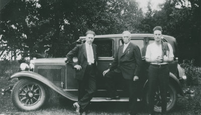 Ferris Bolton with his nephews Frank and George Poole