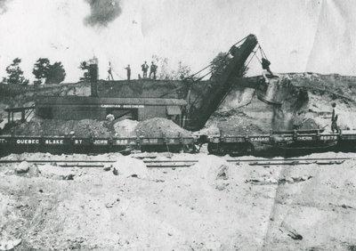 Machine Loading Brockville-Westport Train