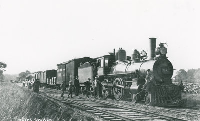 Brockville Westport Train at the Delta Station c.1910