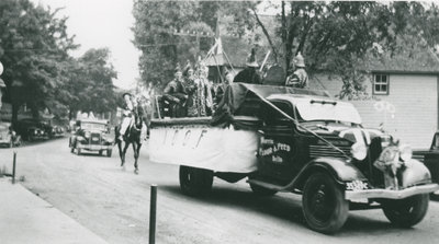 Oddfellows Float in a Delta Parade