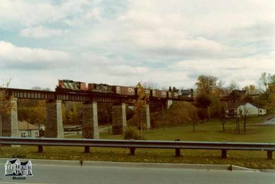 Train over London Bridge