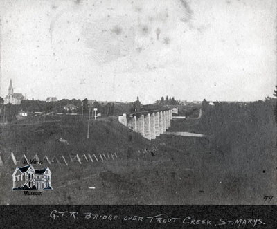 Grand Trunk Railway Bridge Over Trout Creek, 1899