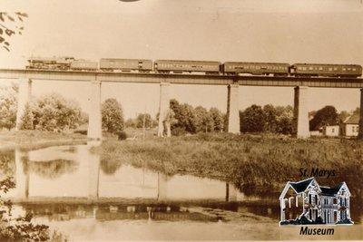 Train Going Over London Bridge