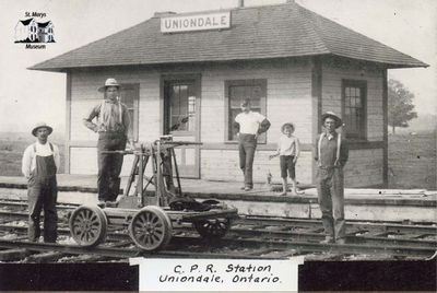 C.P.R. Station in Uniondale, ON