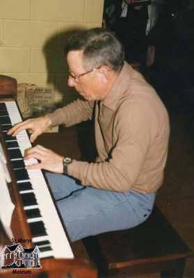 George Harris on the Piano