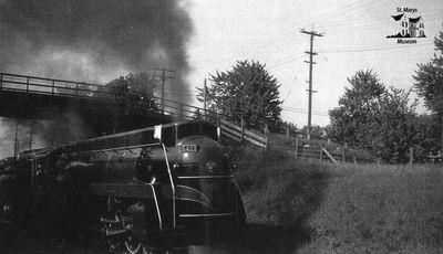 Train Below the Queen St. Overpass