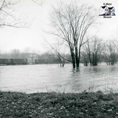 Flood with Railway