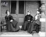 Frederika Ryckman Dale on Porch of 89 Ontario St. S.