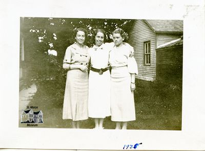 Chesterfield Sisters Outside Their Family Home