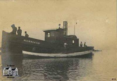 "Tugboat ""Jos. B. Dewey."" in Grand Bend"