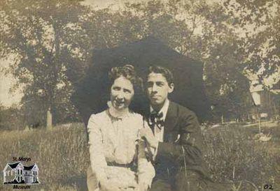 Milton Reesor with Woman