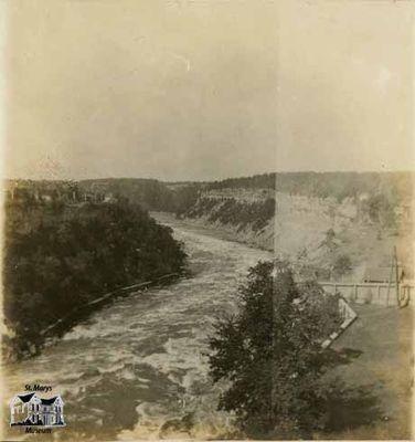 View of the Rapids Below the Great Falls of Niagara