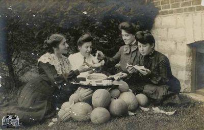Four Women Eating Melon