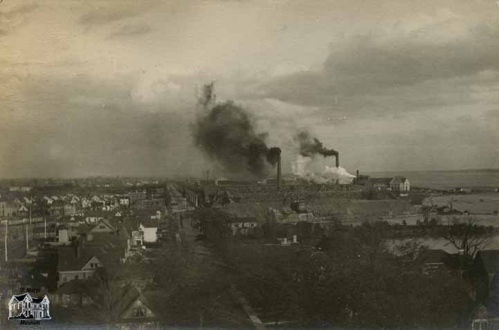 Niagara Falls, New York, From Roof of Shredded Wheat Company's Factory