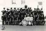 Citizen Band and three majorettes, ca. 1953