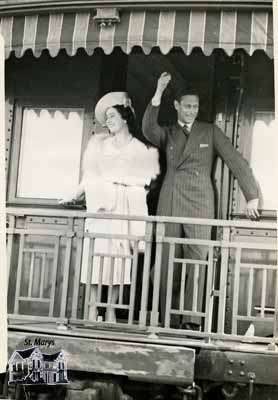 King George VI and Queen Elizabeth at the St. Marys Junction Station - June, 1939