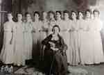 Mrs. James Whimster and 12 of her grand-daughters