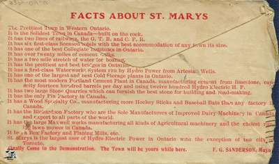 Facts About St. Marys