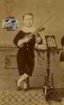 George Fox with violin