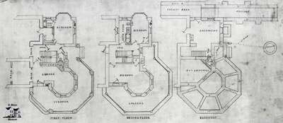 Plans for Westover, 1881