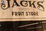Sign outside of Jack's Fruit Store at 122 Queen Street East