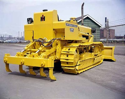 Crawler Tractor Equipped with Scarifiers