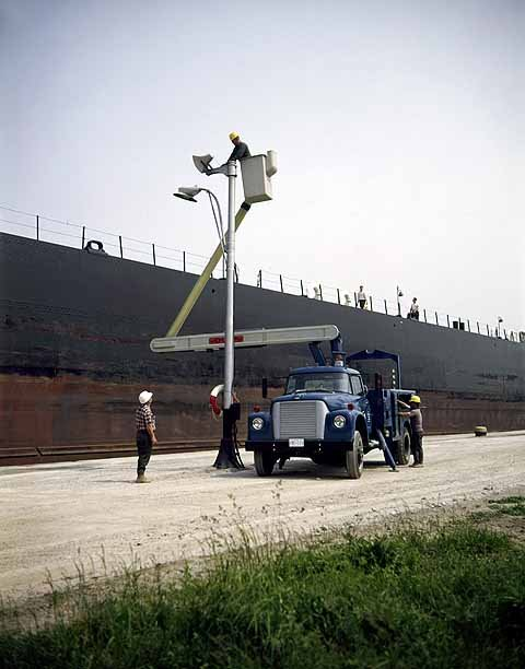 Truck and Equipment Used for Canal Work