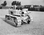 Crawler Tractor Equipped with a Three Point Hitch