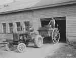 Unidentified Men With Tractor & Dump Cart