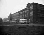Motor Buses Parked Outside Building, Hamilton, ON