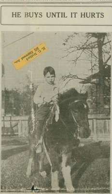 Gordon Buck, wants to sell pony to buy Liberty Bonds