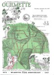 Map of Ouilmette Reservation 1828-1844 with its Indian reminders