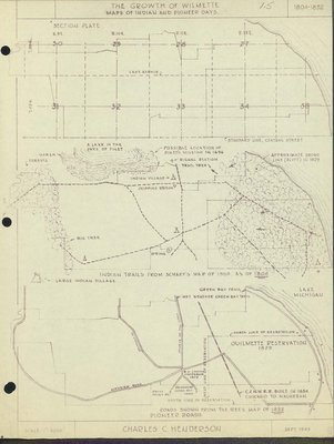 The Growth of Wilmette: Maps of Indian and Pioneer Days