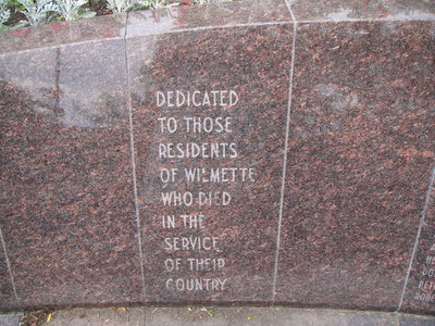Wilmette Memorial Information Volume 1