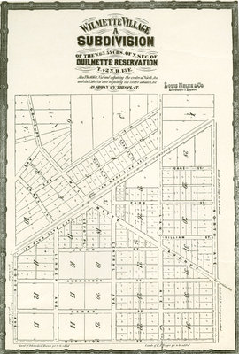 Wilmette Village a Subdivision of the W.63.55 CHS of N. Sec. of Ouilmette Reservation T.42 N.R. 13 E.