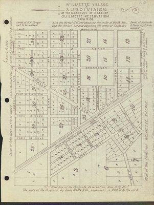 Plan of the original Wilmette village