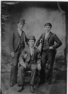 Portrait of William Ballard Robinson Sr., Shelly Ford, and Thomas Lovedale