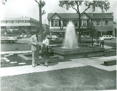Centennial Fountain in Wilmette