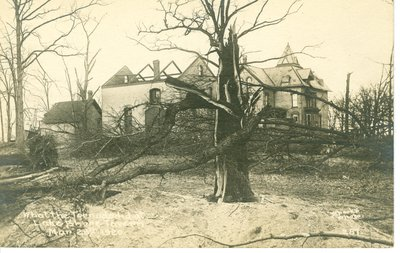 View of Wilmette after the Palm Sunday Tornado on March 28, 1920, No.13